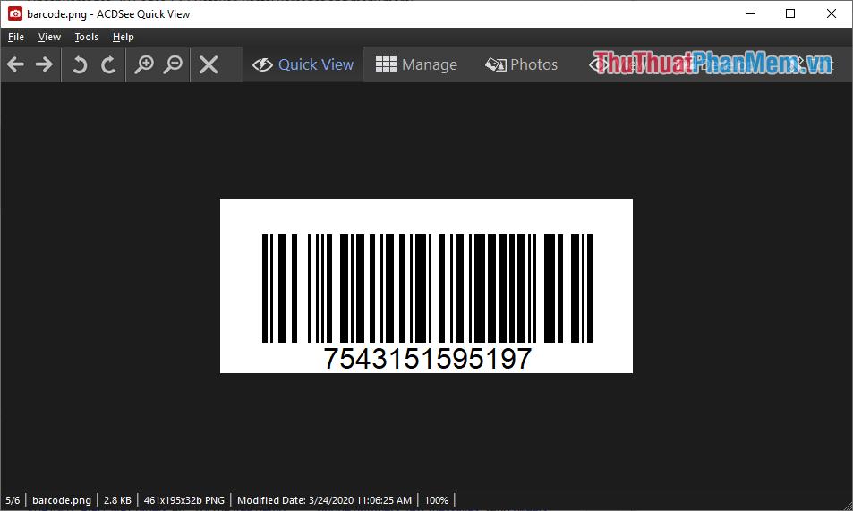 Bạn đã tạo Barcode thành công