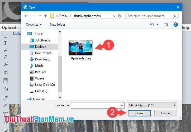 Chọn ảnh từ máy tính