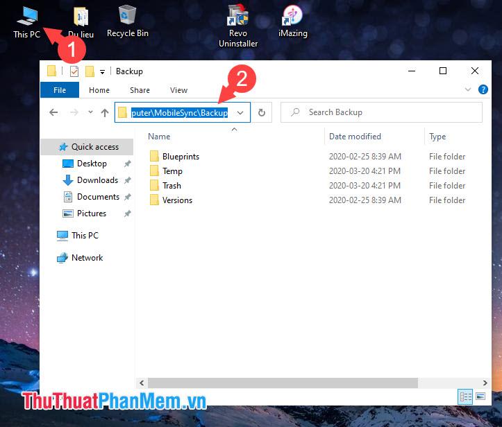 Sau khi truy cập đường dẫn trên thì bạn sẽ mở thư mục Backup của iTunes và có thể truy cập vào những file backup trên đó