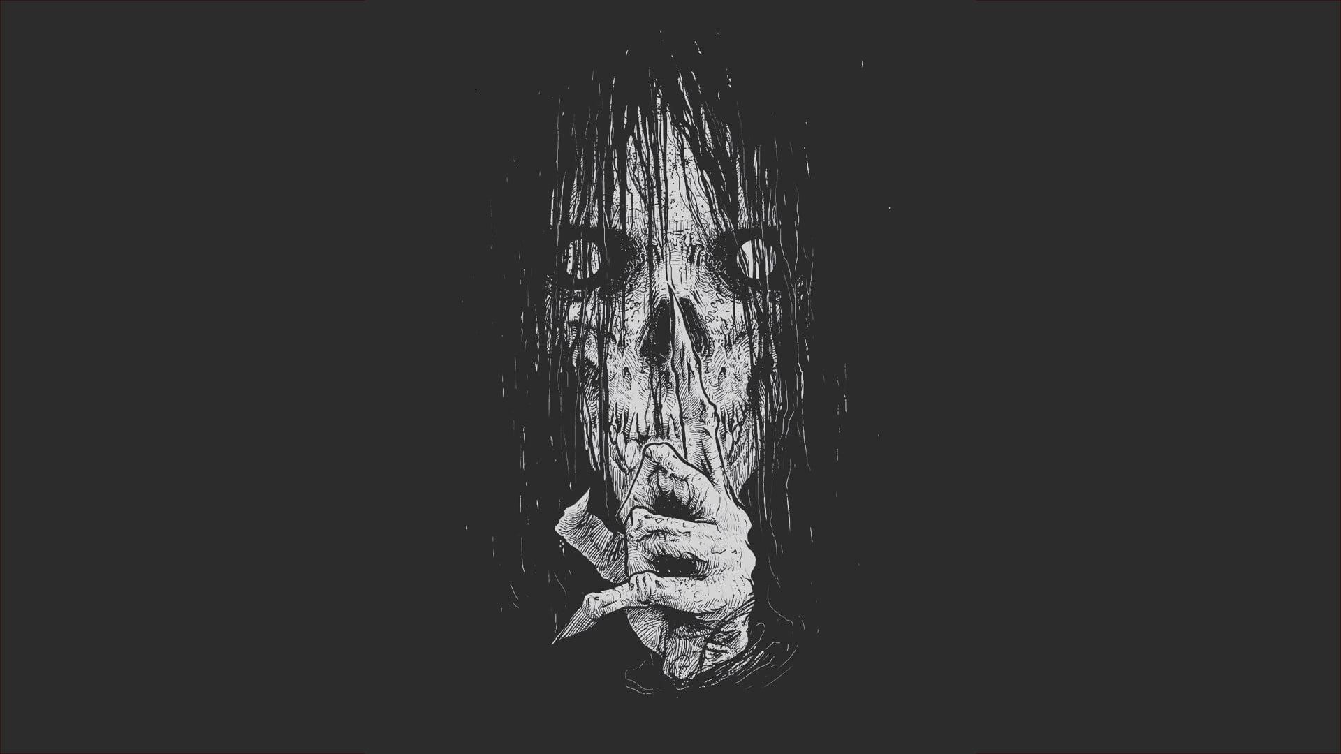 Hình nền kinh dị tối màu