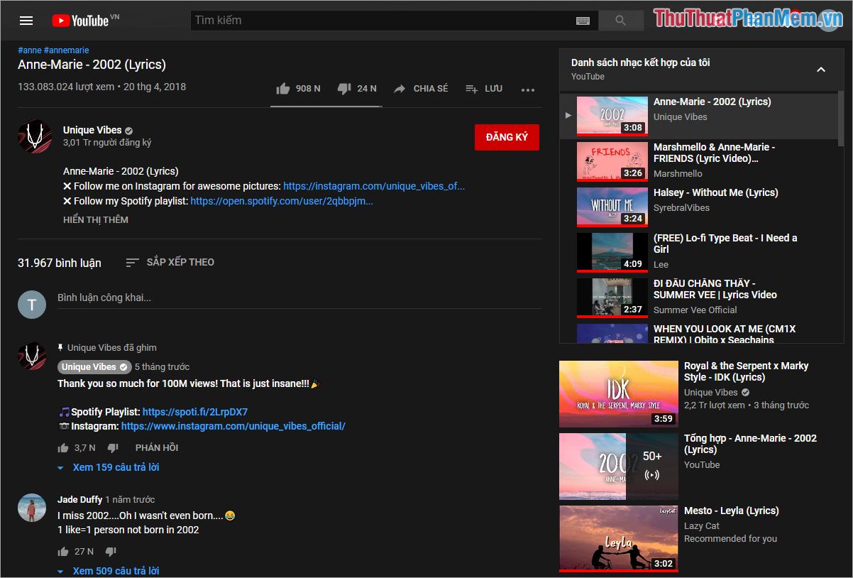 Toàn bộ các nội dung trên Yotube sẽ được chuyển sang chế độ tối