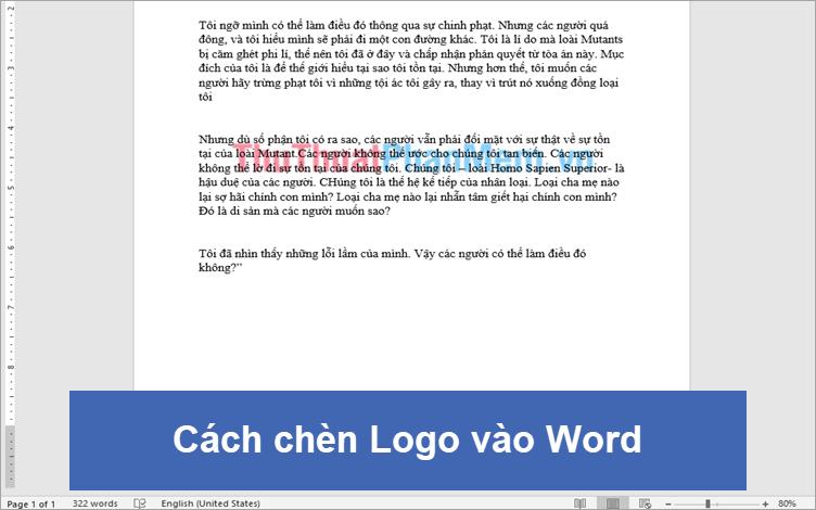 Cách chèn Logo vào Word