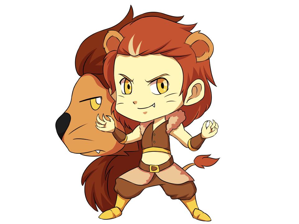 Hình ảnh chibi anime cung Sư Tử