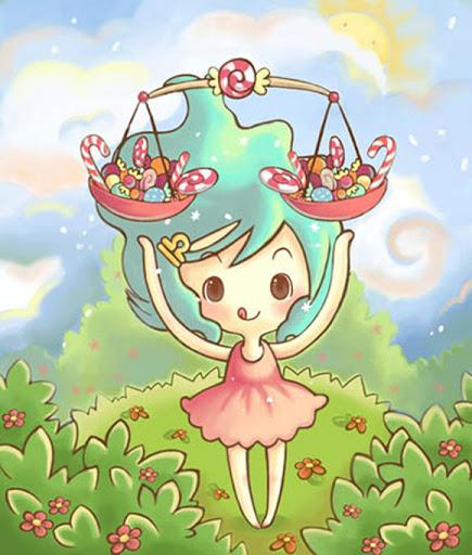 Hình ảnh chibi cung Thiên Bình nữ