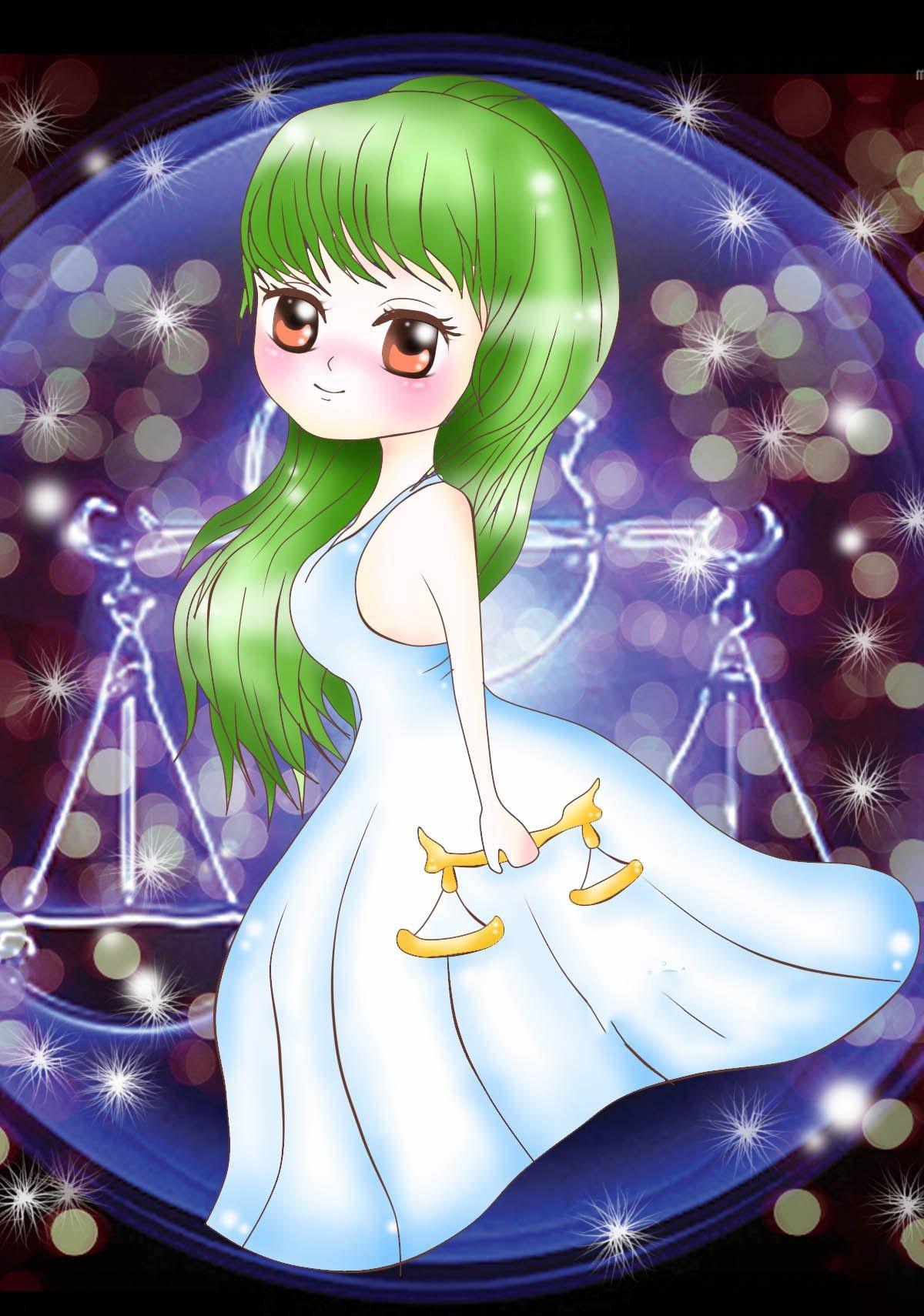 Hình ảnh cung Thiên Bình anime chibi