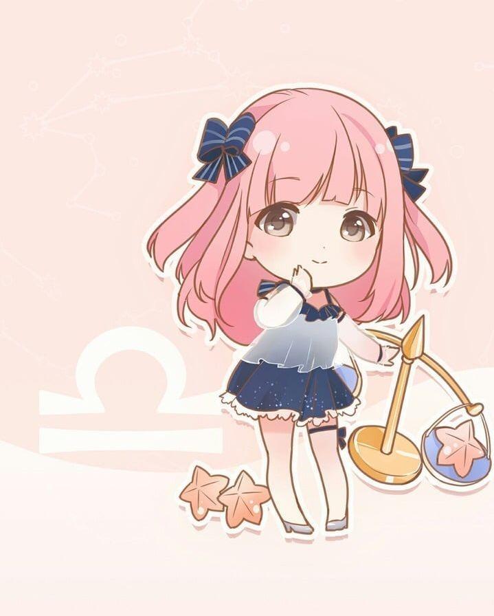 Hình ảnh cung Thiên Bình anime girl