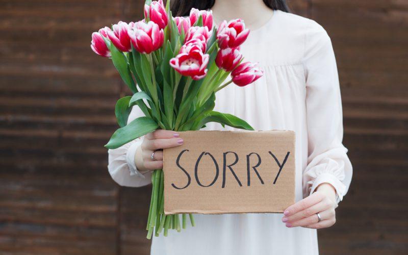 Ảnh xin lỗi người yêu dành cho bạn nữ