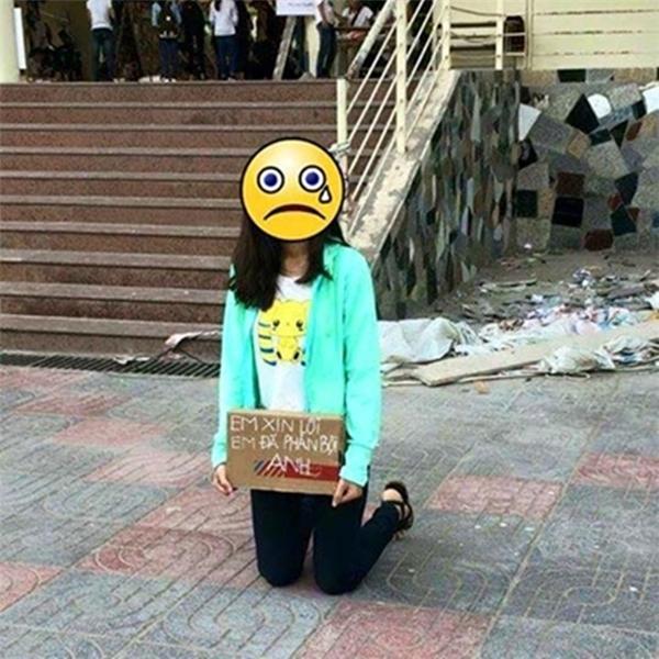 Hình ảnh bạn gái xin lỗi người yêu