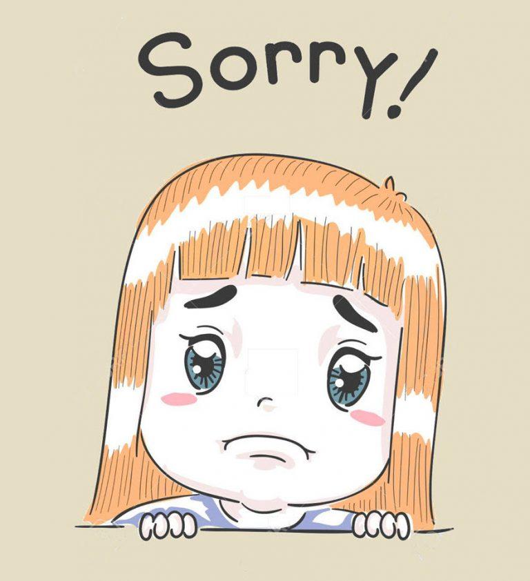 Hình ảnh cute xin lỗi người yêu