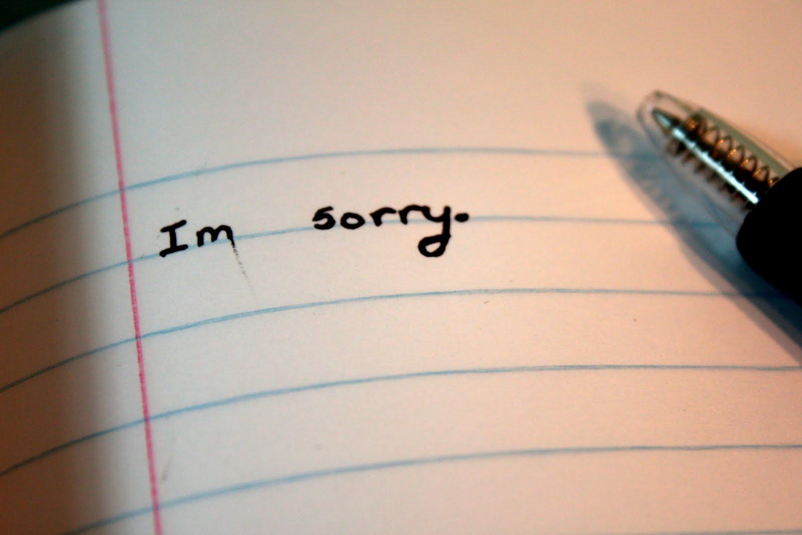 Hình ảnh viết lời xin lỗi người yêu bằng tiếng ANh