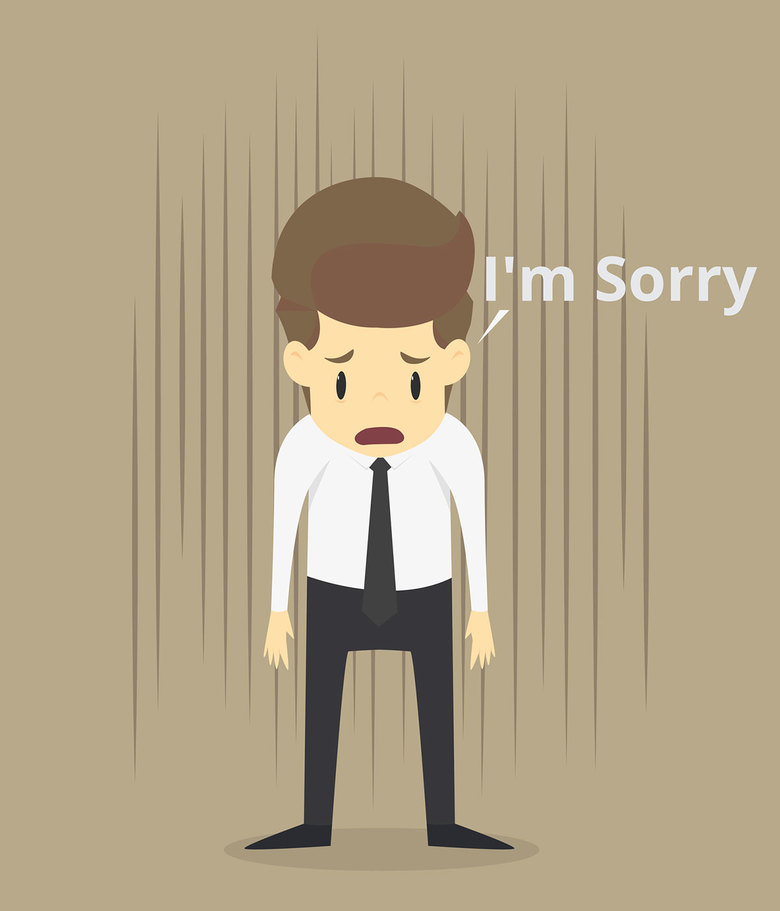 Hình ảnh xin lỗi buồn