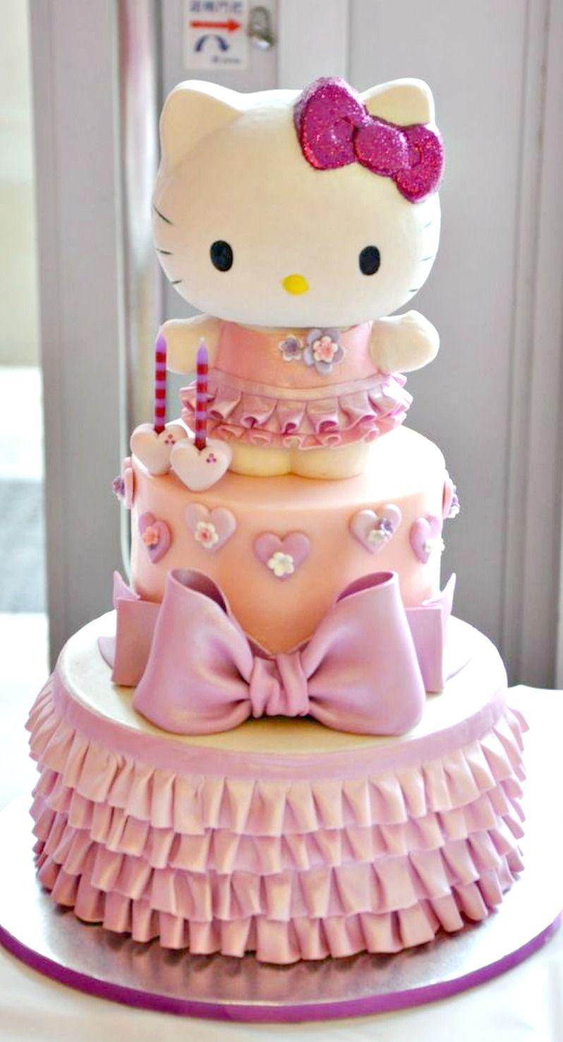 Bánh sinh nhật hello kitty ngộ nghĩnh