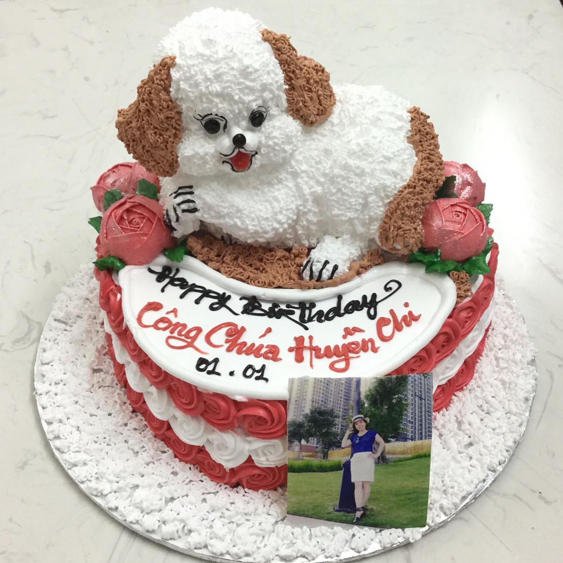 Bánh sinh nhật hình chú chó ngộ nghĩnh