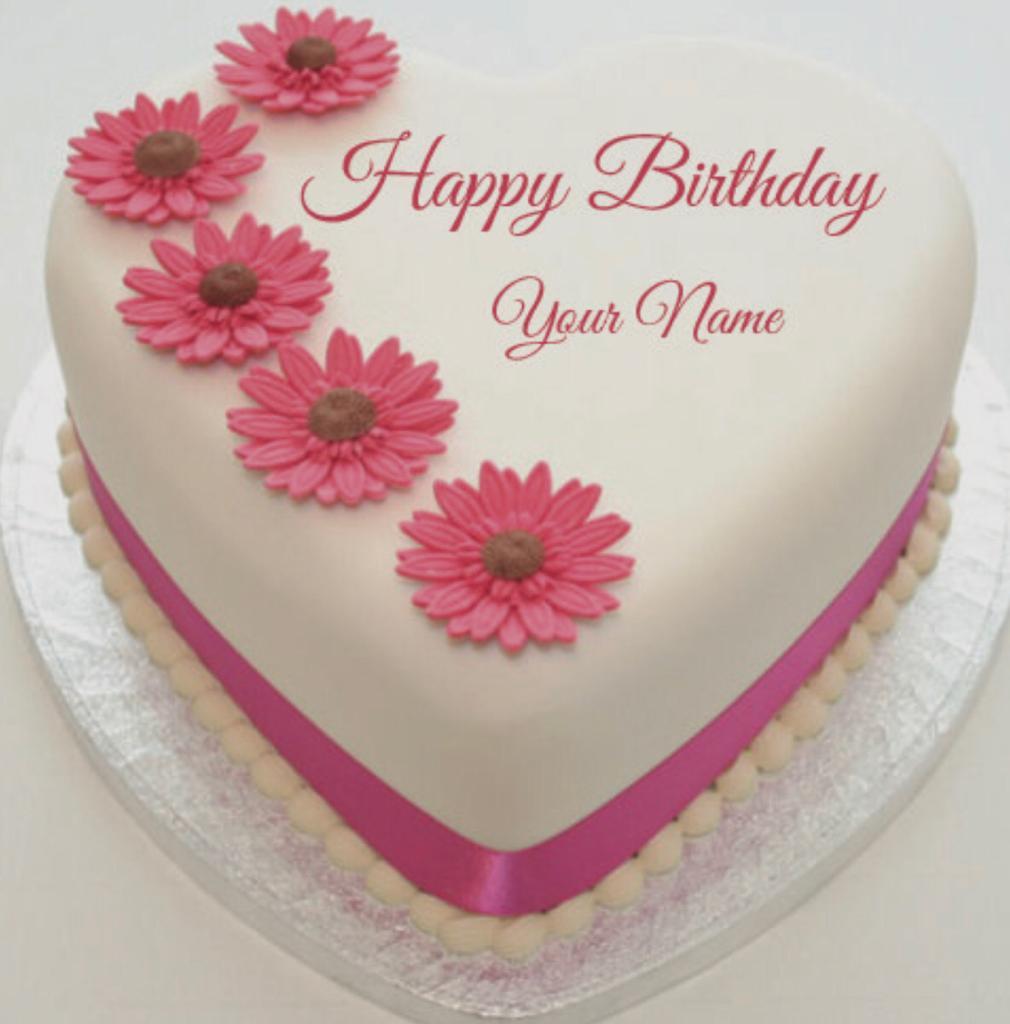 Bánh sinh nhật hình trái tim ngộ nghĩnh