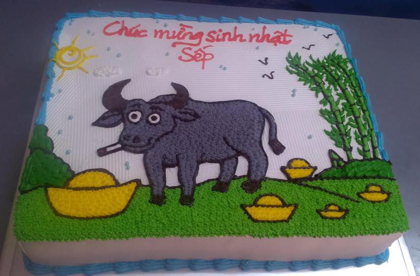 Bánh sinh nhật ngộ nghĩnh cho sếp