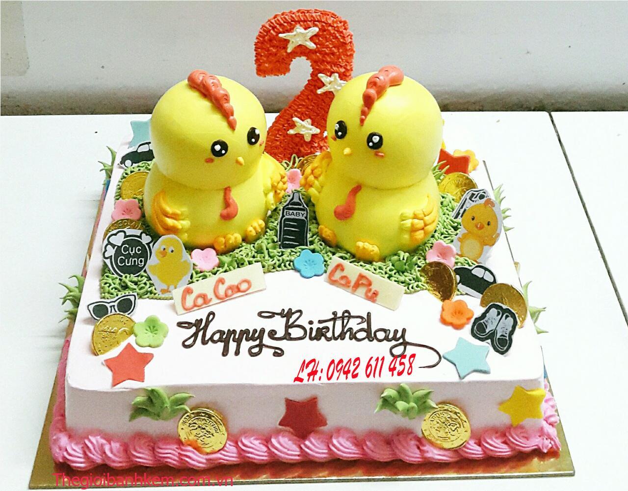 Bánh sinh nhật ngộ nghĩnh hình chú gà con