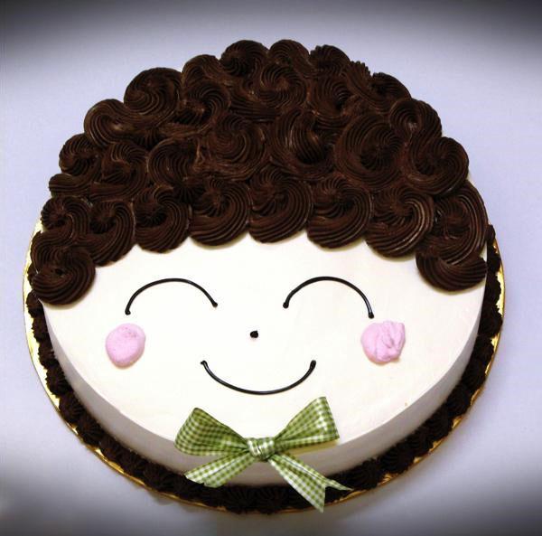 Bánh sinh nhật ngộ nghĩnh hình khuôn mặt