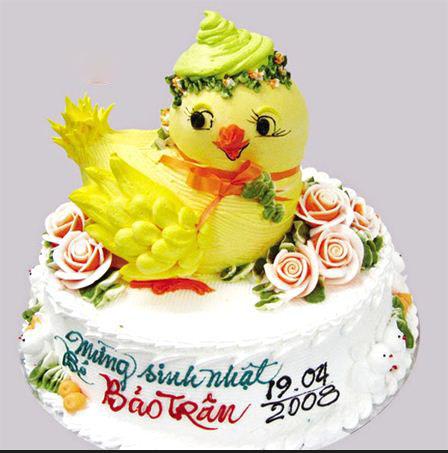 Mẫu bánh sinh nhật hình gà mái