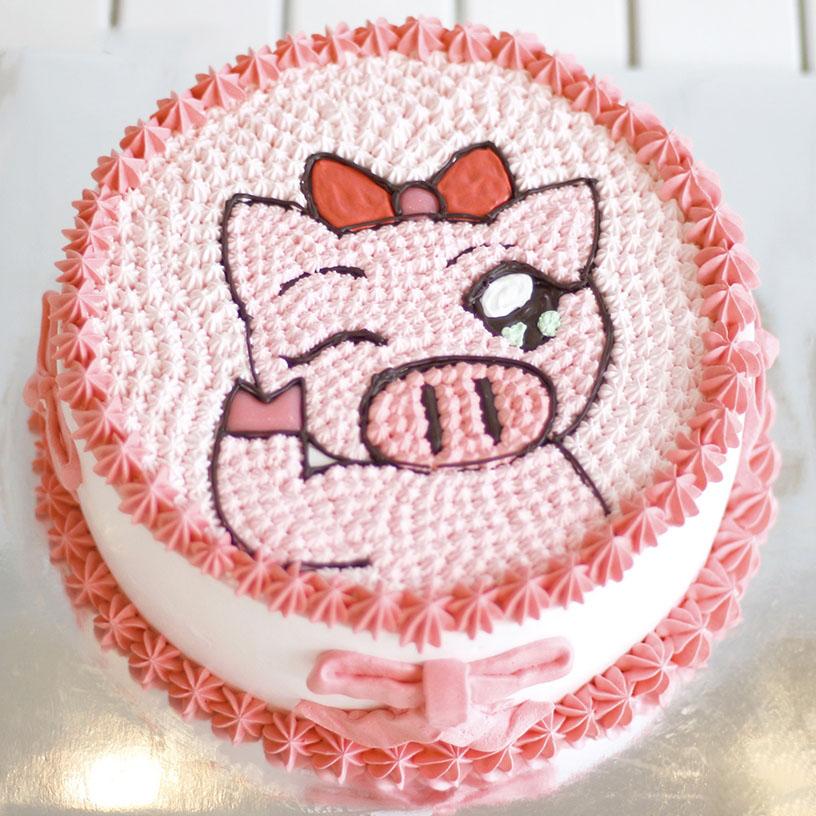 Mẫu bánh sinh nhật hình heo ngộ nghĩnh