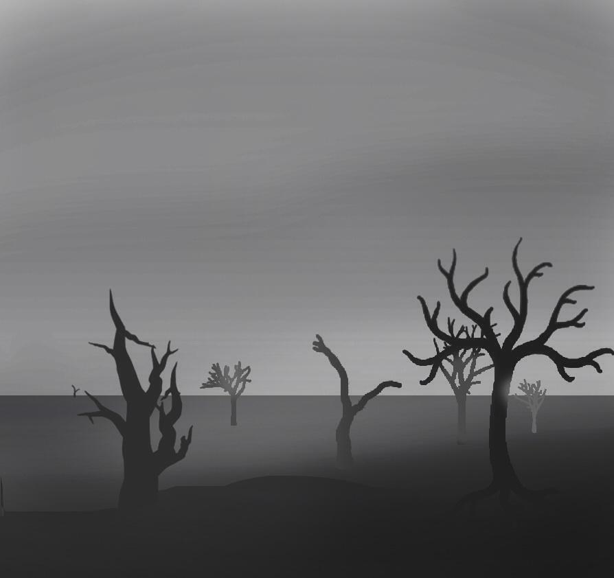 Ảnh phong cảnh buồn phong cách hoạt hình