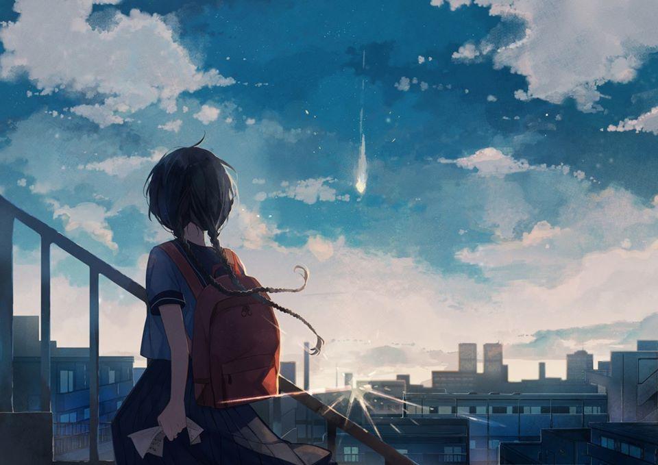 Hình ảnh anime phong cảnh tâm trạng buồn
