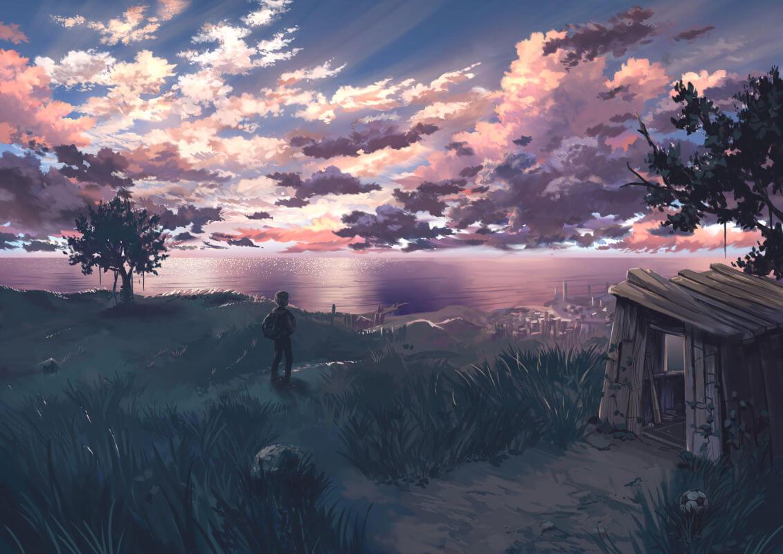Hình ảnh phong cảnh buồn anime