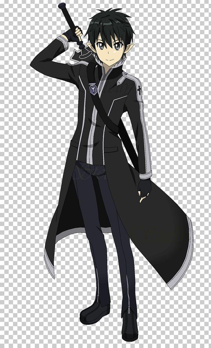 Hình Kirito áo choàng dài đeo kiếm sau lưng