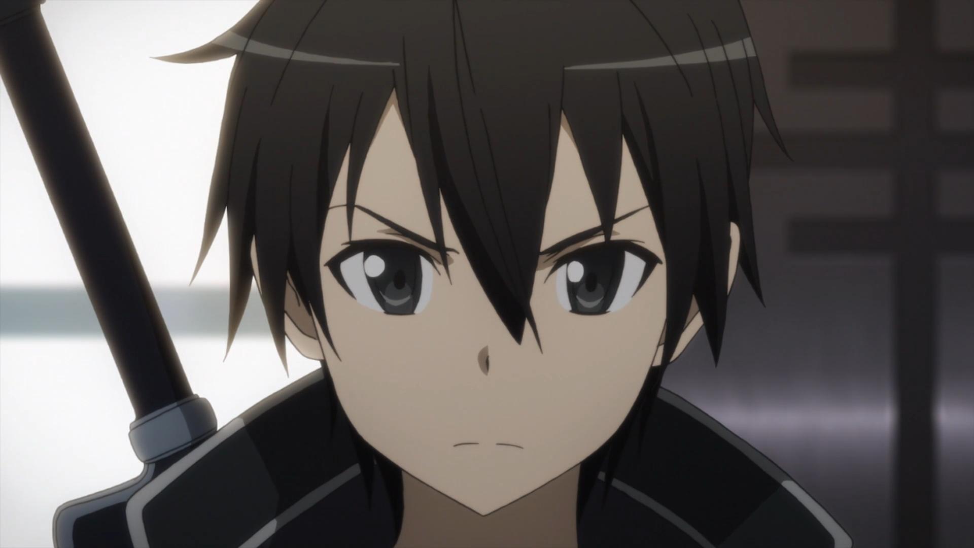 Hình Kirito khuôn mặt nghiêm túc