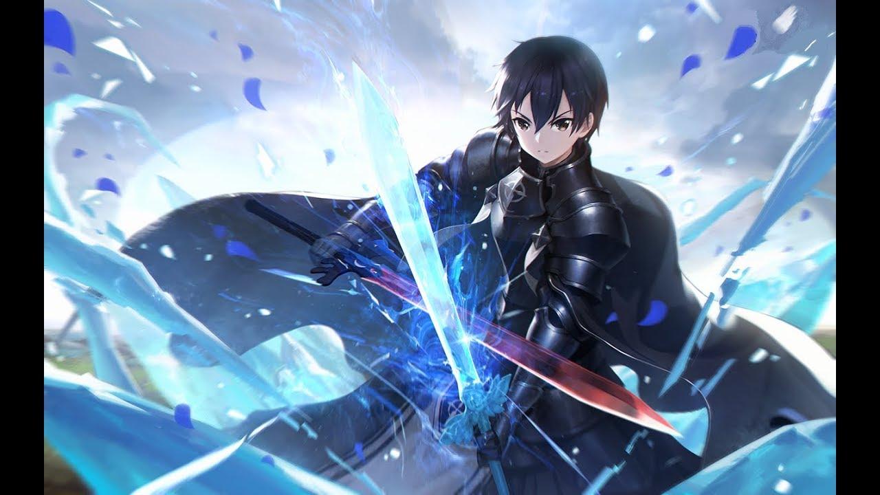 HÌnh Kirito mặc giáp chiến đấu
