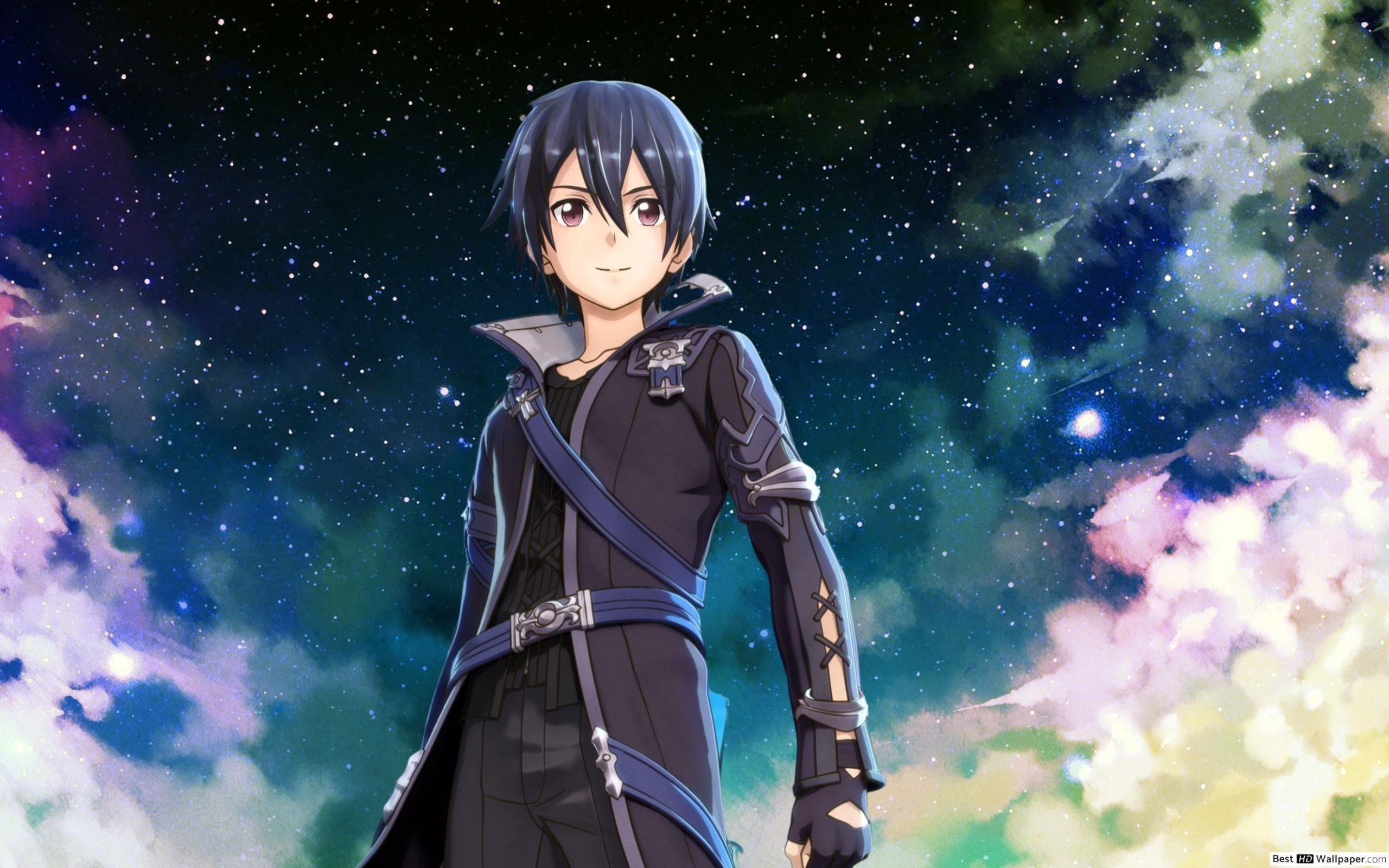 Hình Kirito và bầu trời đêm
