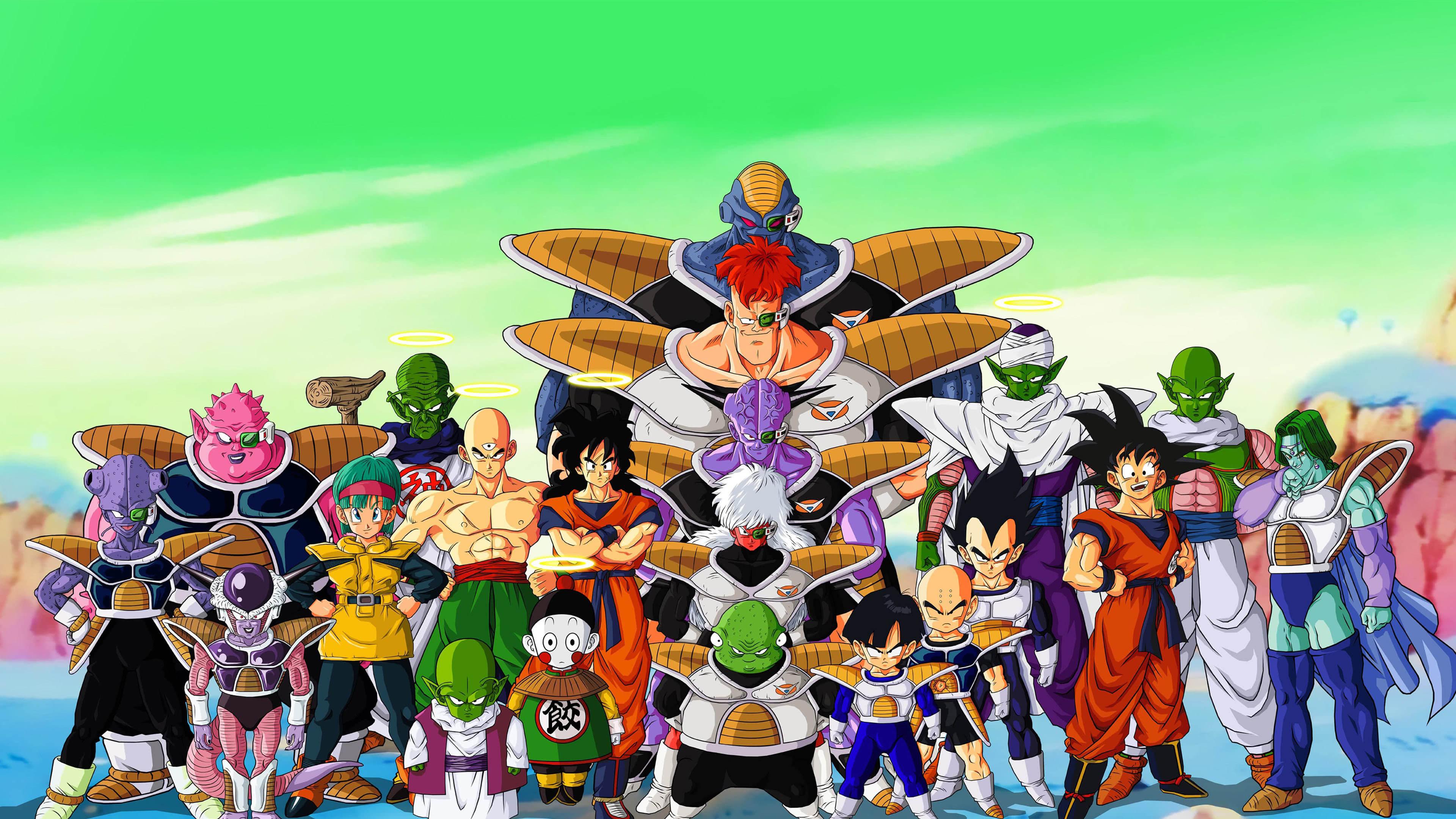 Hình nền Dragon Ball nhiều nhân vật đứng chung