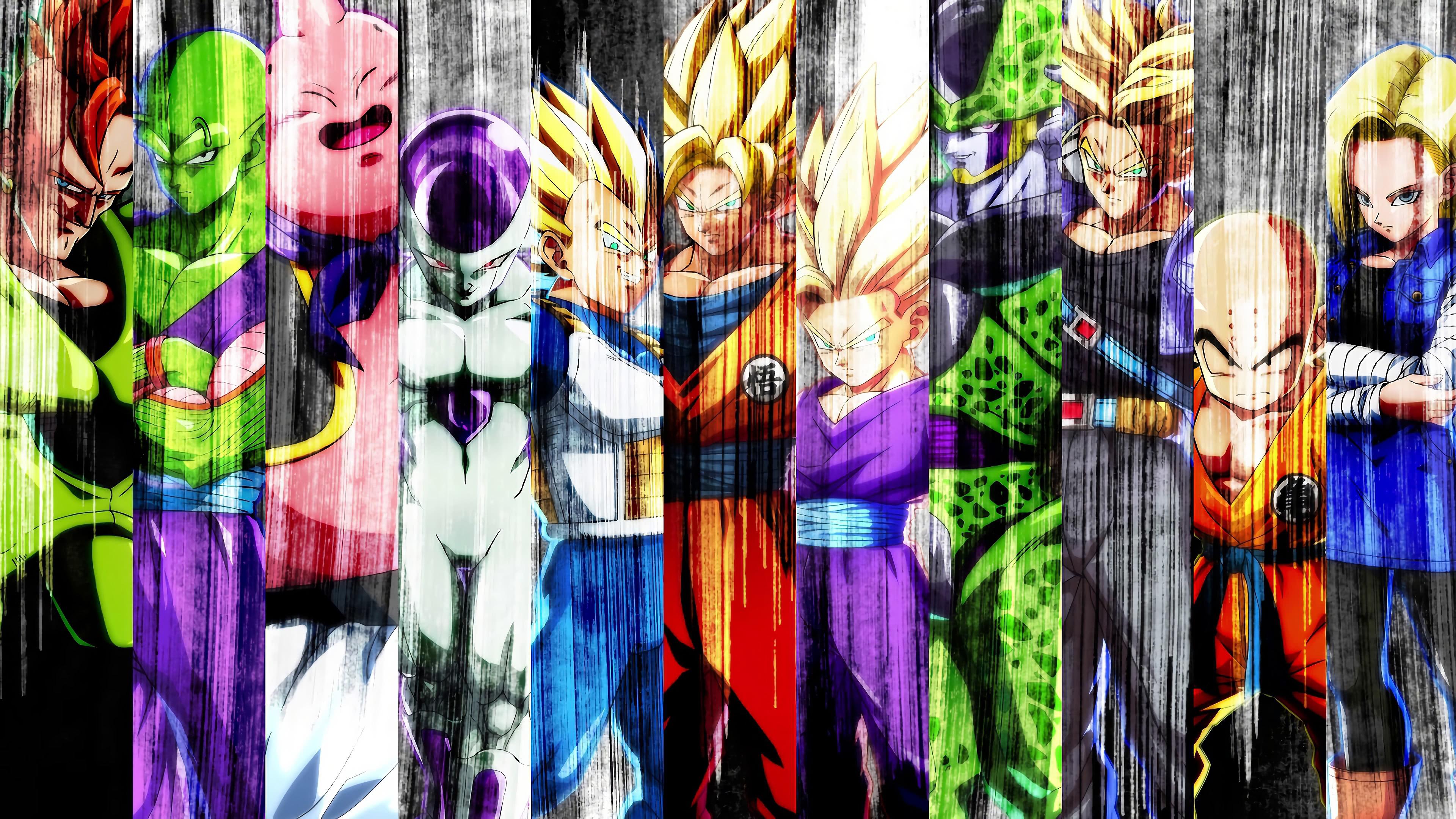 Hình nền Dragon Ball rất đẹp nhiều nhân vật