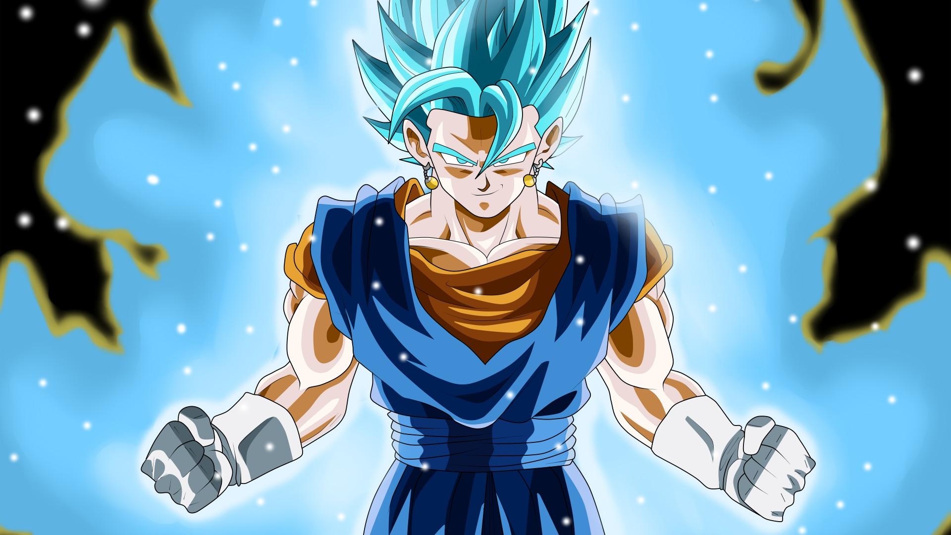 Hình nền Dragon Ball rất đẹp tóc xanh blue