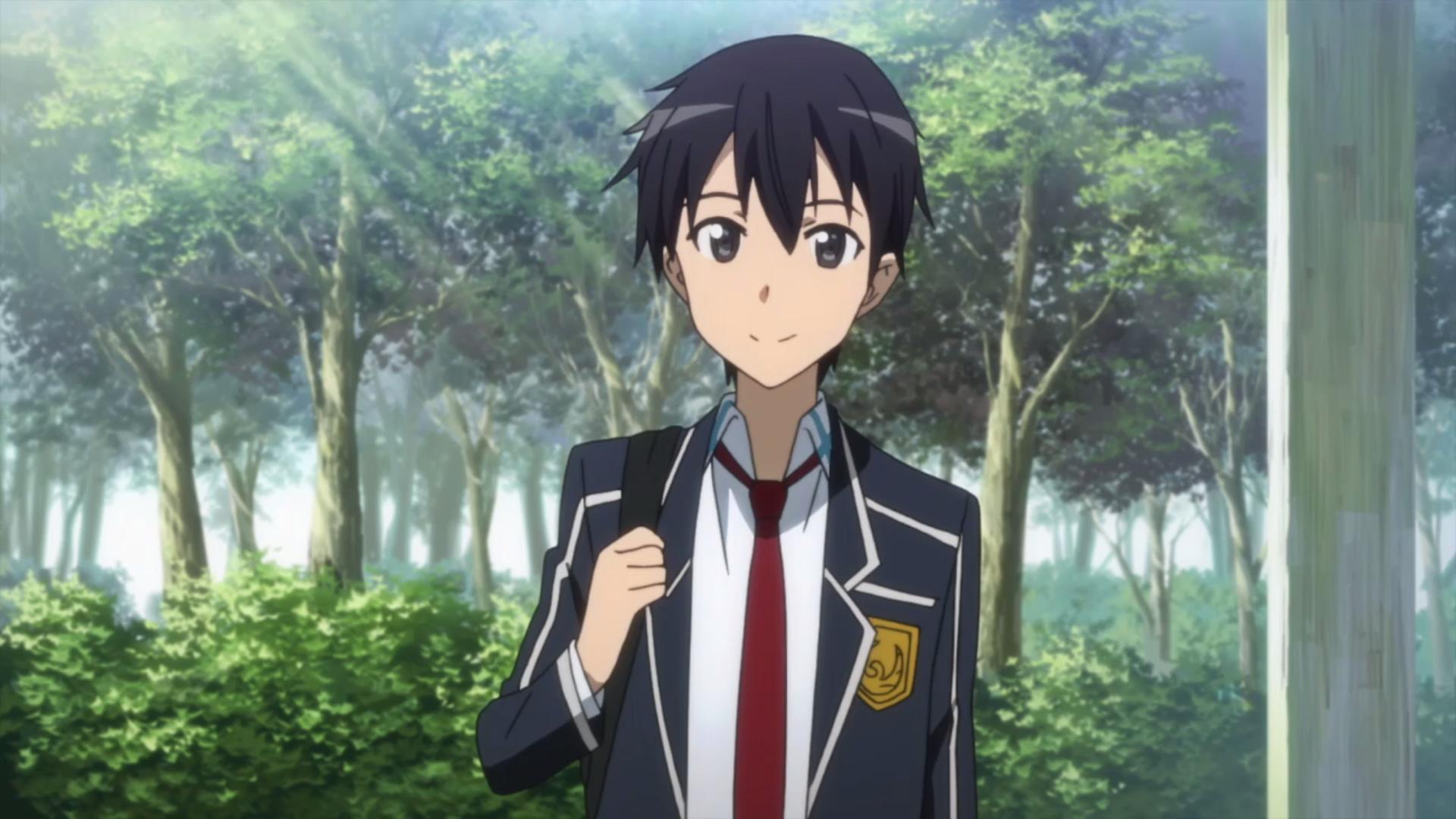 Hình nền Kirito mặc đồng phục