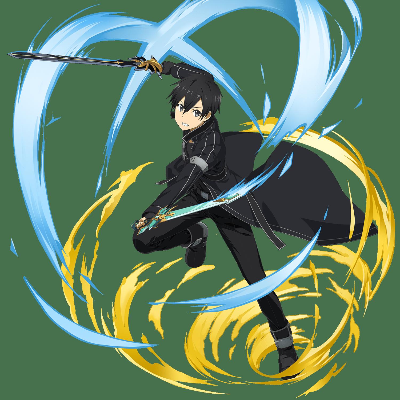 Hình nền trong Kirito và cơn lốc hai màu xanh vàng