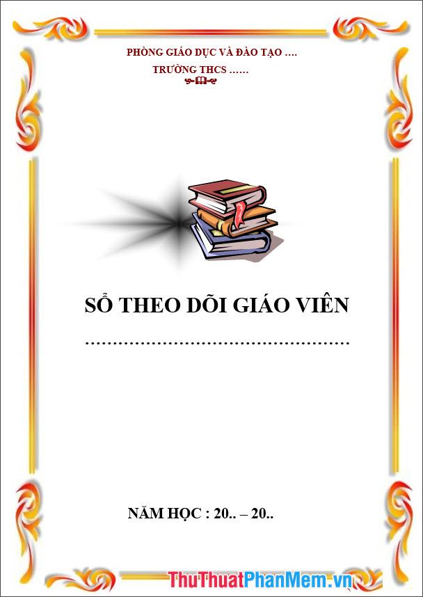 Mẫu bìa giáo án theo dõi của BGH