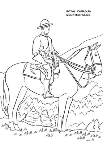 Tranh tô màu chú công an Canada thời xưa