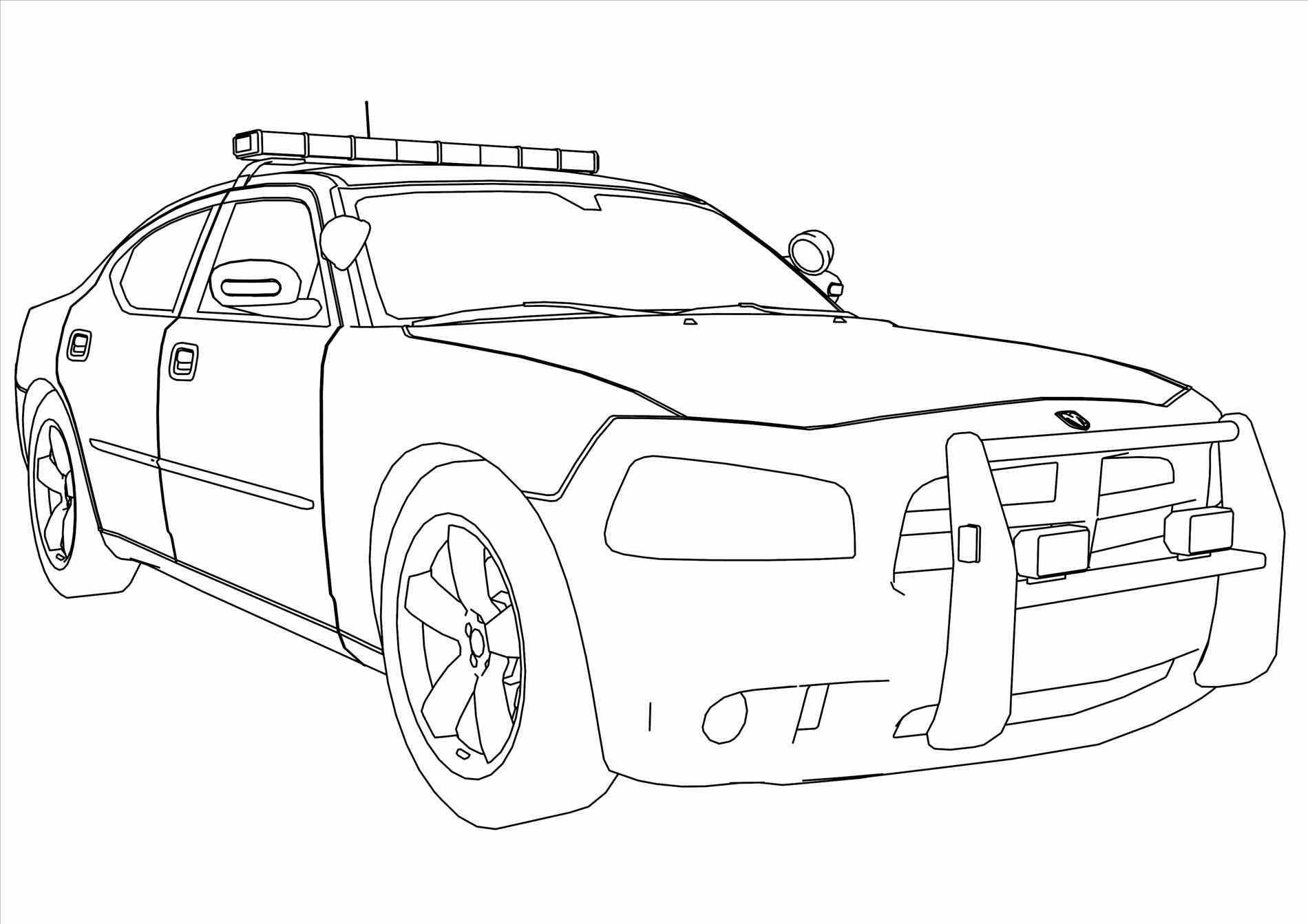 Tranh tô màu xe cảnh sát cực đẹp