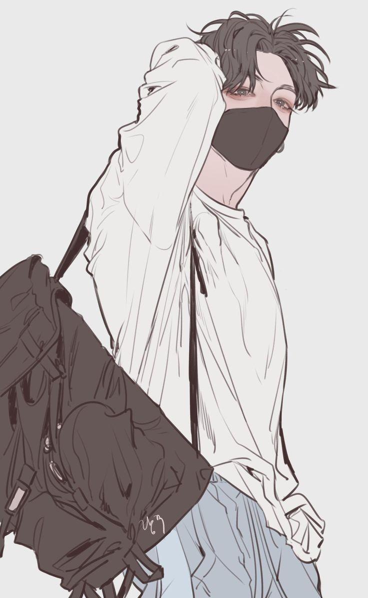 Ảnh anime Hàn cực đẹp chàng trai áo trắng