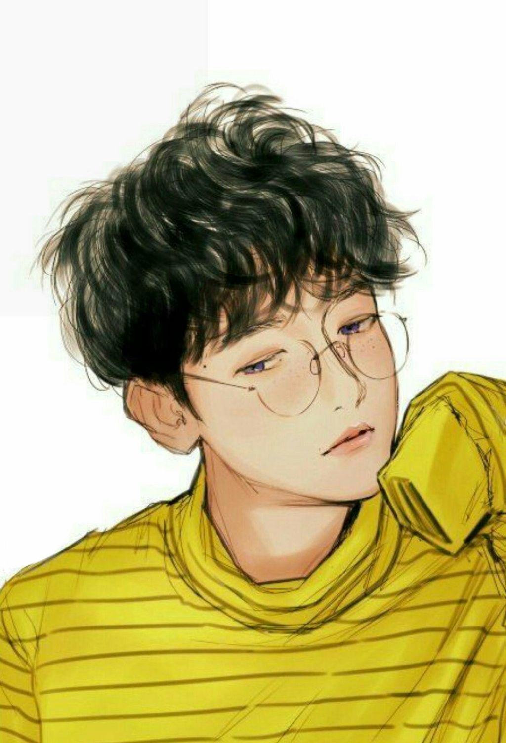 Ảnh anime Hàn đẹp chàng trai mắt tím