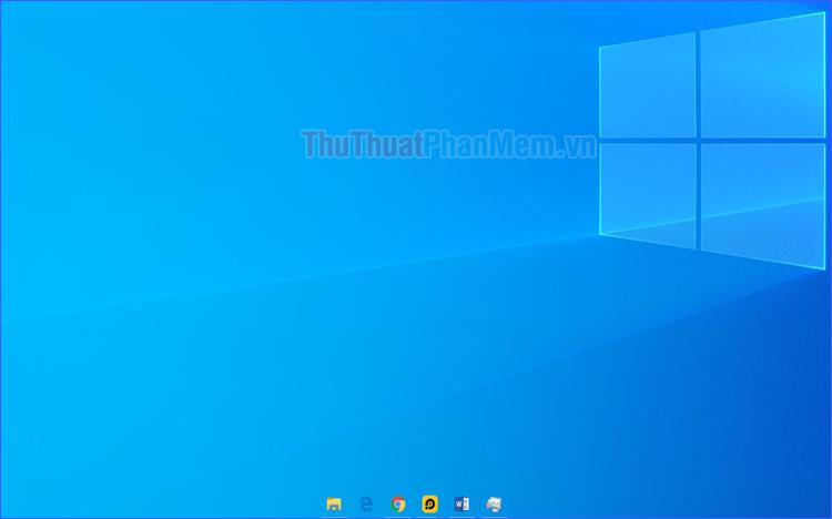 Cách đưa icon ra giữa thanh Taskbar và làm Taskbar trong suốt trên Win 10