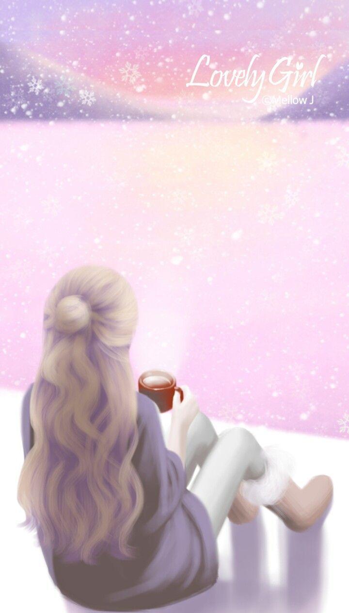 Hình ảnh anime hàn cô gái ngắm hoàng hôn