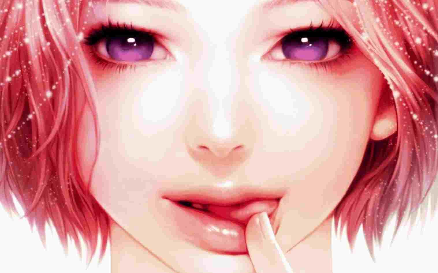 Hình ảnh anime Hàn cô gái tóc đỏ xinh đẹp