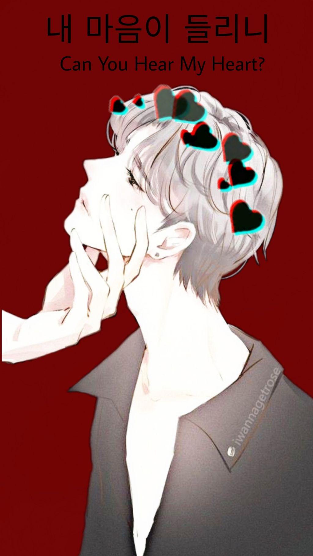 Hình ảnh anime Hàn cực đẹp chàng trai tóc trắng