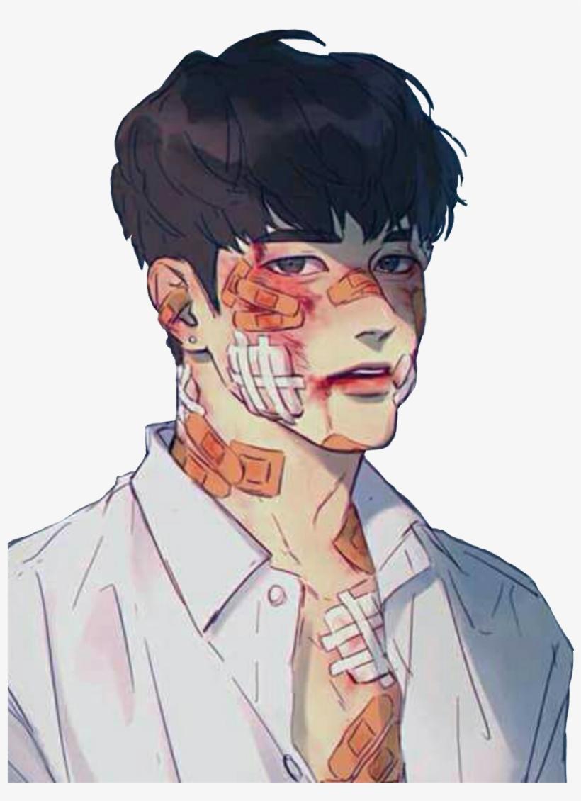 Hình ảnh anime Hàn đẹp chàng trai bị thương tật