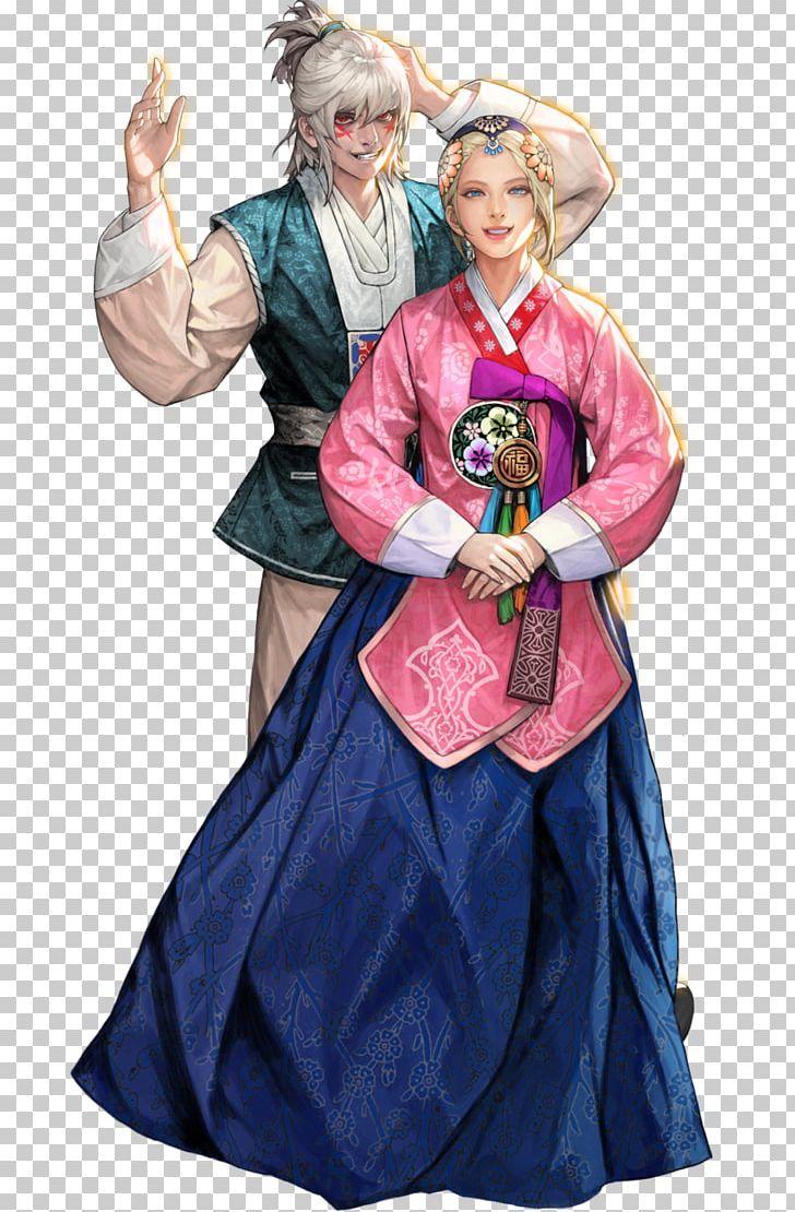 Hình ảnh anime Hàn đẹp chàng trai tóc trắng và cô gái tóc vàng