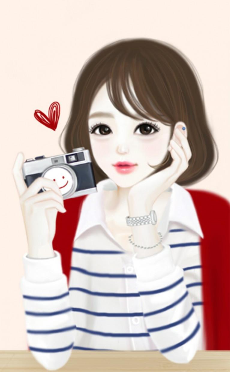 Hình ảnh cô gái Hàn anime đẹp