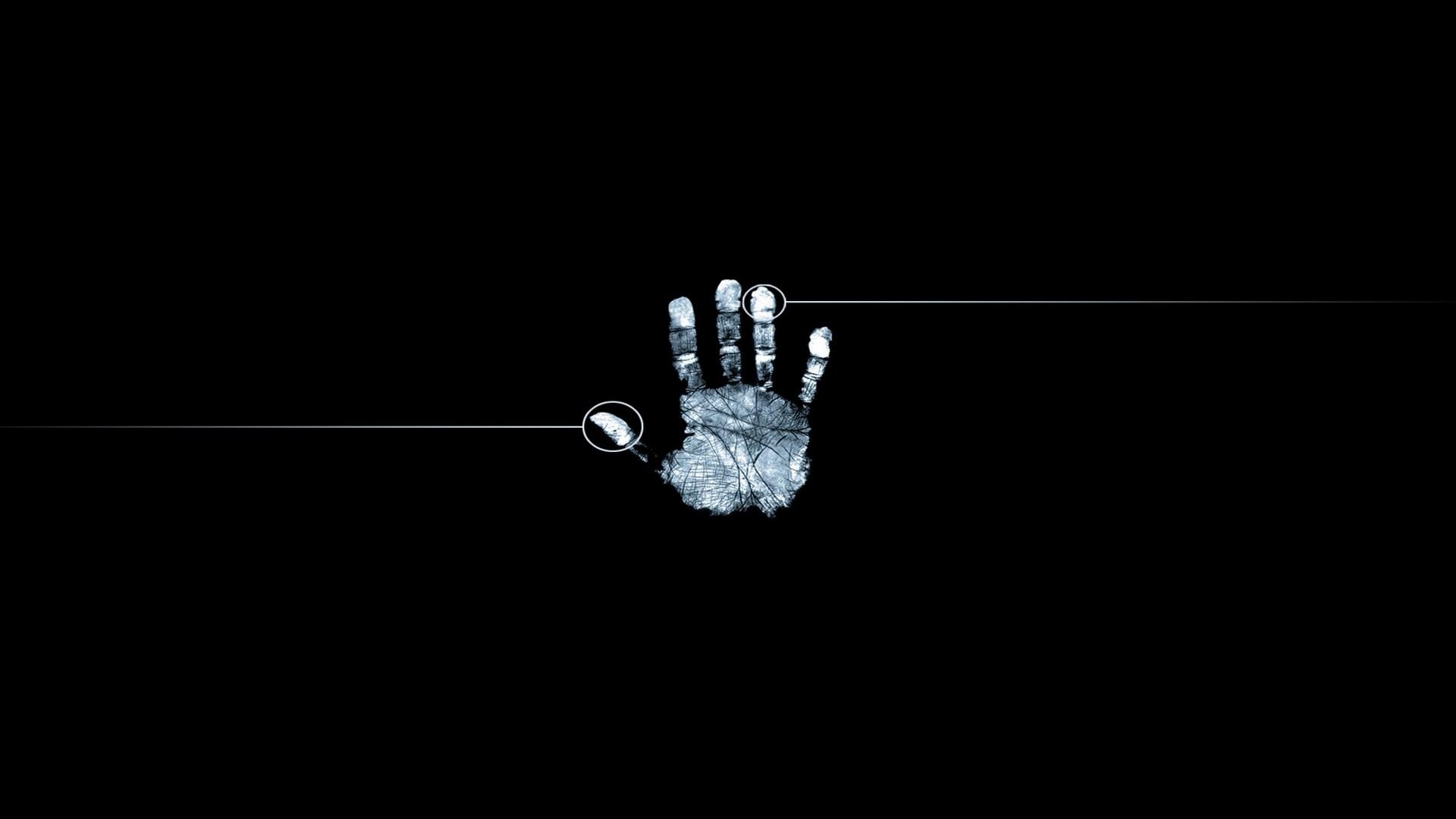 Hình nền đen bàn tay trắng