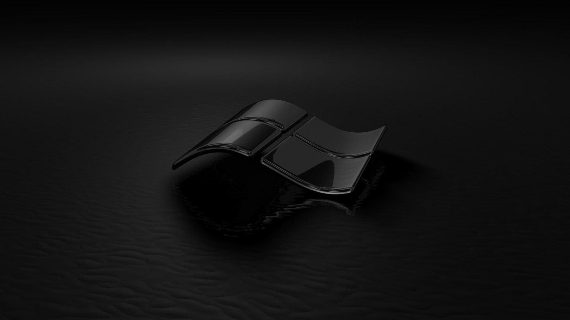 Hình nền đen biểu tượng Windows quyến rũ