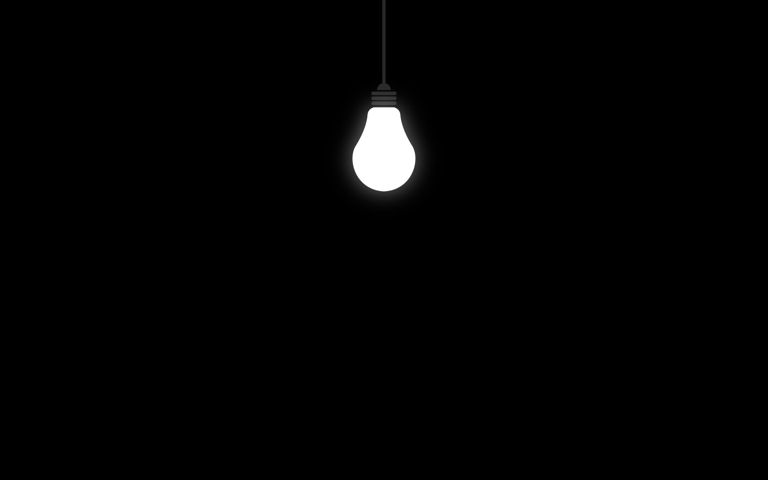 Hình nền đen bóng đèn sáng